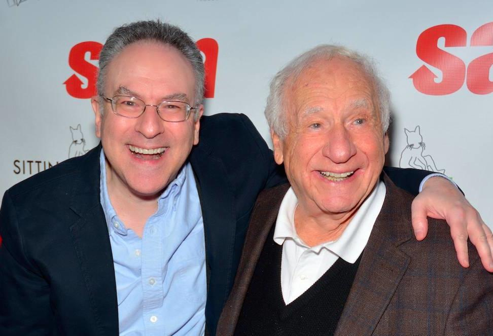 """Mel Brooks shares a laugh with son Nicholas Brooks at the NYC premiere of their film """"Sam"""""""