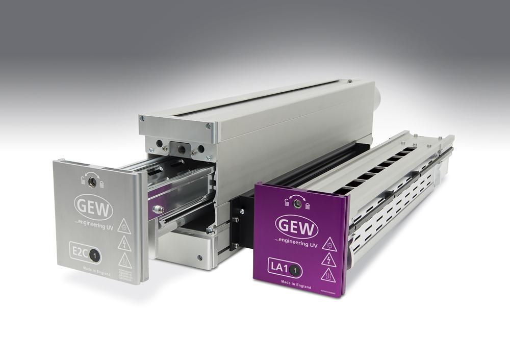 GEW LA1 and E2C UV curing systems