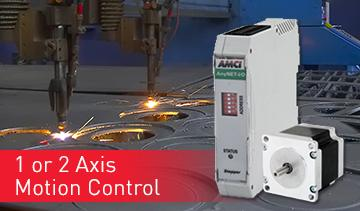 AMCI's AnyNET ANG1 & ANG2 1 & 2 axis motion controllers with network interface