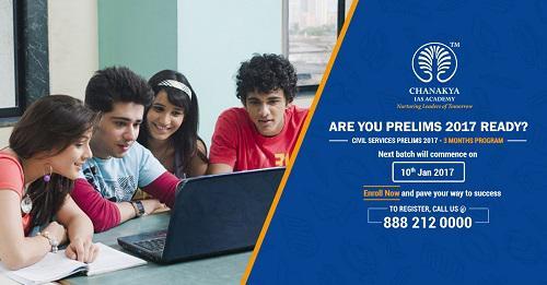 Chanakya IAS Academy announces short term course for Civil