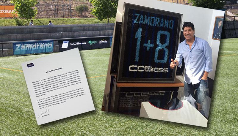 Football legend Zamorano gives a seal of approval to the CCGrass pitch