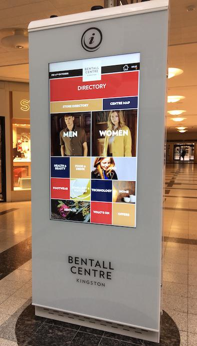 Advanced digital wayfinder in the prestigious Bentall Centre - updated with seasonal colour scheme.
