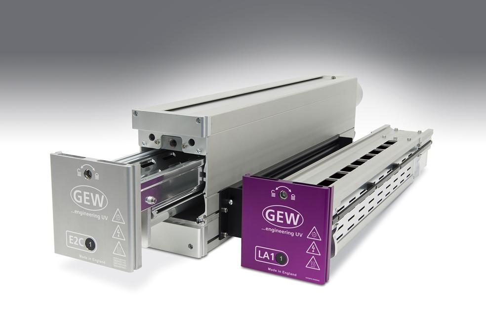 GEW with LED UV curing system at Graphispag in Barcelona