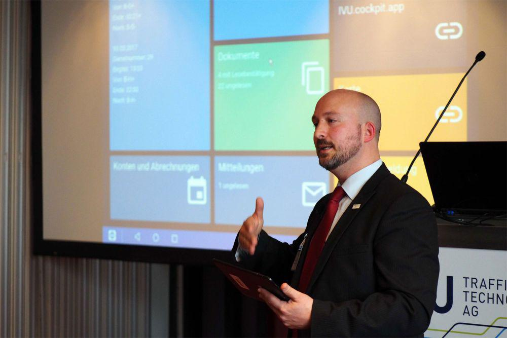Marc Schaffert, Head of Sales and Branch Manager Switzerland, presented the latest developments of the IVU.pad at the 29th User Fo