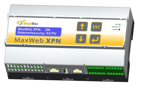 MaxWeb XPN: Self-learning energy management and data logger.