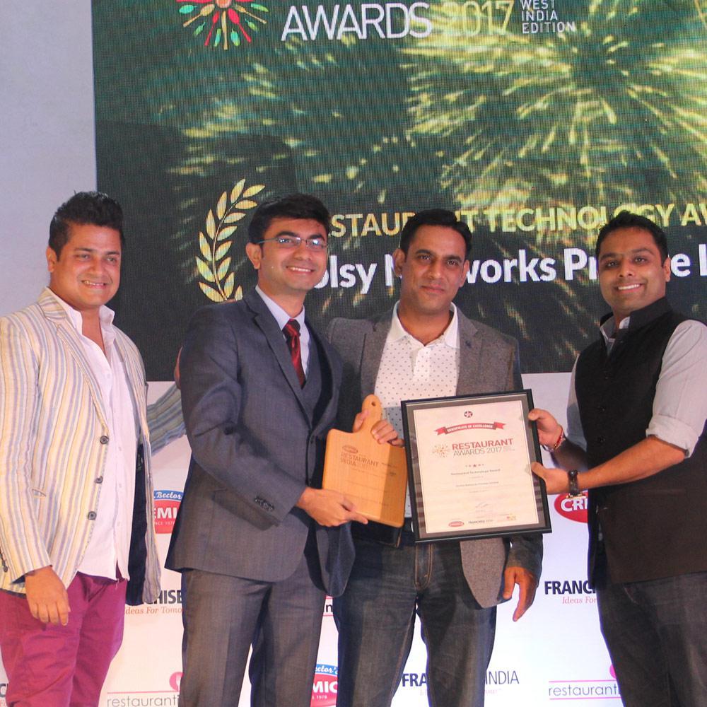 Voolsy Wins Best Restaurant Technology Award