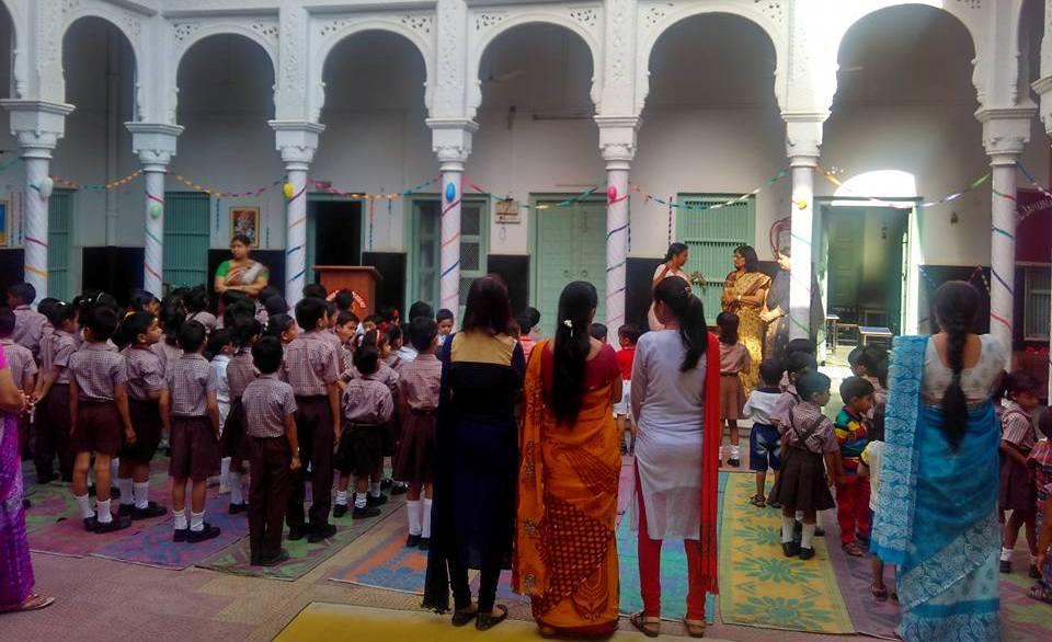 New Session 2017 -2018 Gala Freshers Welcome at Jamuna Mishra Academy JMA Pilani Rajasthan