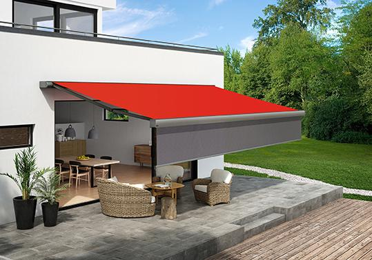 The markilux 970 patio awning it is now available with the Shadeplus feature.
