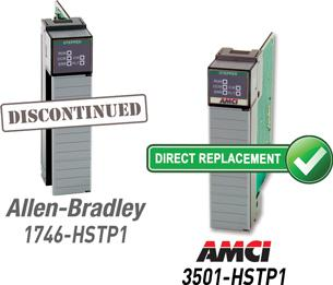 Direct replacement for discontinued Allen-Bradley 1746-HSTP1 motion module for SLC500
