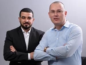 Sameh Gamal from AOC with Sergey Didenko of SDC
