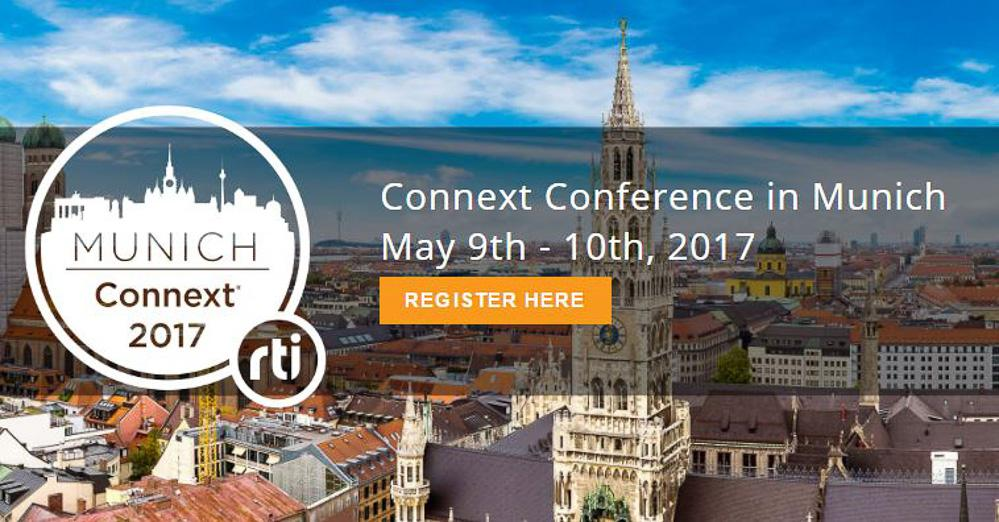 The third RTI Connext Conference takes place on May 9-10 in Munich, Germany.