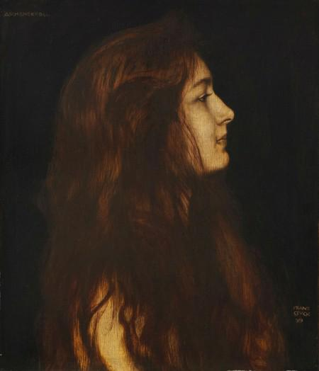 Franz von Stuck, Aschenbrödel, 1899, oil on wood, 49.1 x 42.3 cm. Estimate: EUR 80,000-120,000