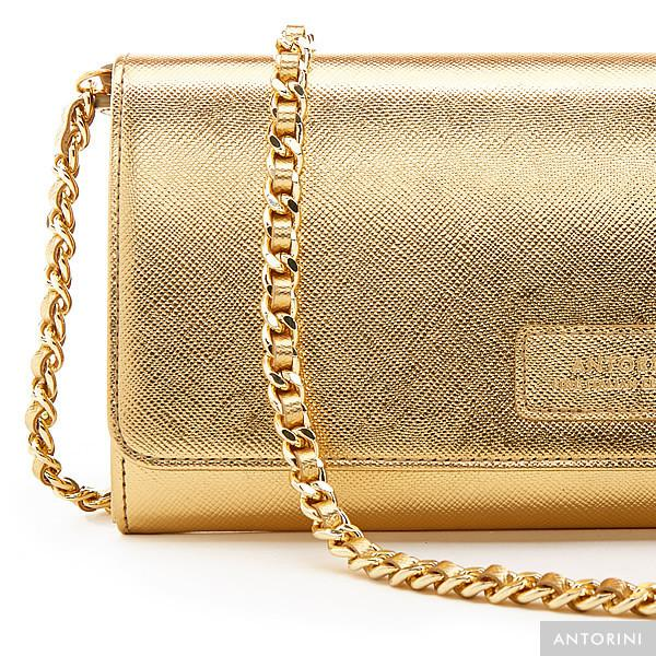 ANTORINI Luxurious Ladies Concetta Wallet in Gold
