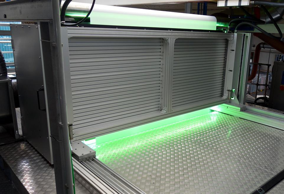 GEW ultra-wide UV curing system