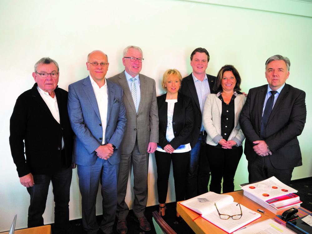The board: Horst Funda, Dr.-Ing. Daniel Leberger, Karlheinz Leuders, Michaela Waldecker, Friedrich Allendorff, Ursula Gröbner, Uwe