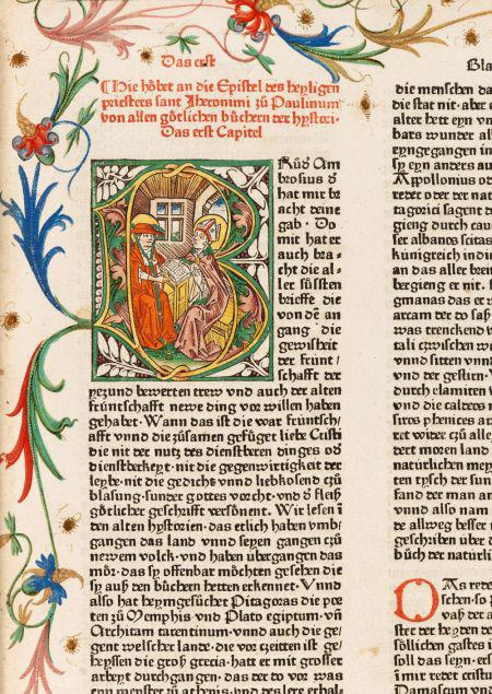 Biblia germanica with 73 picture initials. Augsburg around 1474. Result: EUR 144,000*