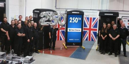 AMSCREEN ROLLS OUT THE 250TH NEXT GENERATION PHONE BOX