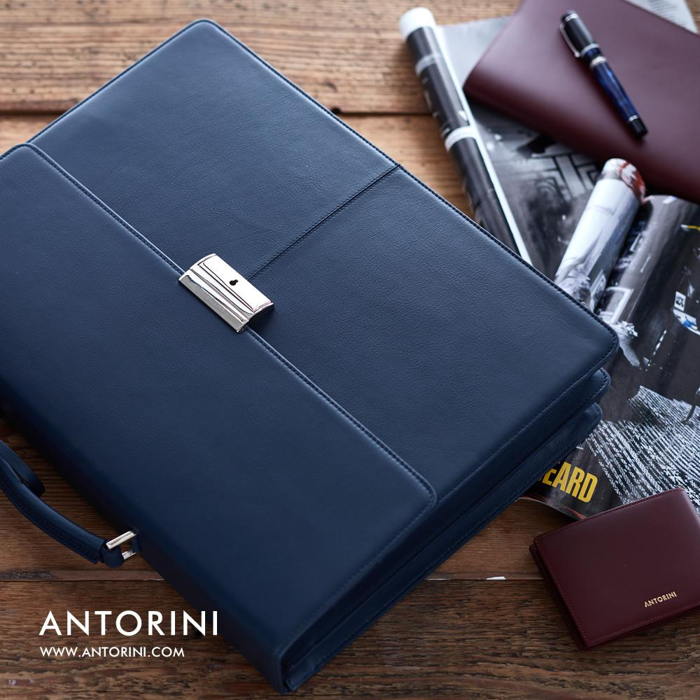 ANTORINI Leather Briefcase