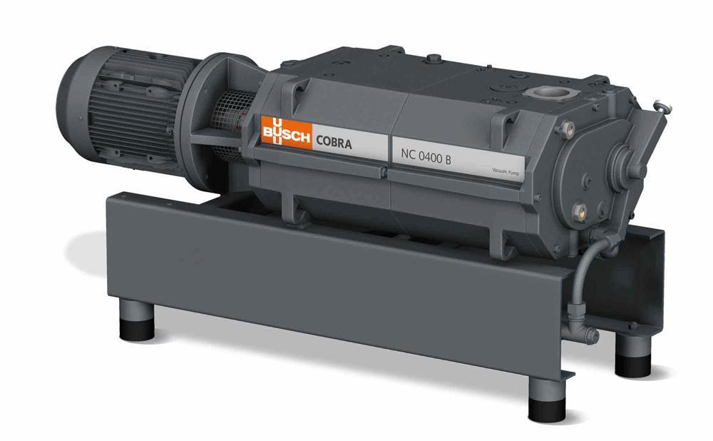 Busch shows the COBRA NC 0400 B dry screw vacuum pump at the POWTECH.