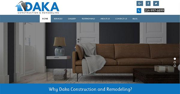 DAKA CONSTRUCTION & REMODELING ANNOUNCES ITS NEW WEBSITE!