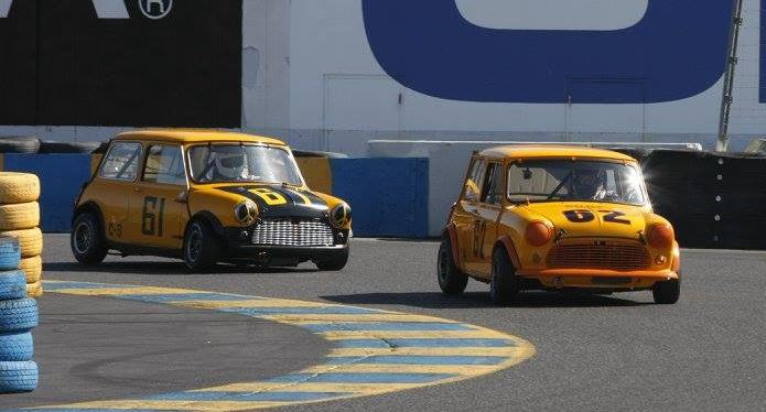 Dennis Racine won the Sonoma Historic races in June with the former Randy Unsbee #62 championship Mini Cooper S