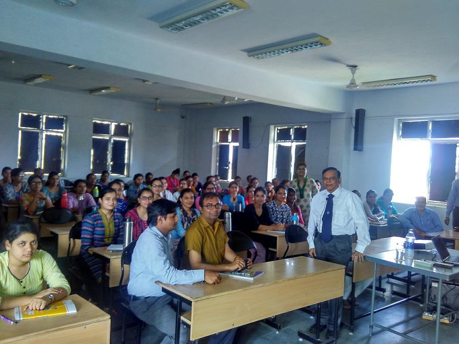 Prof Joy Mukhopadhyay Talks on Colour Science & Technology at Banasthali
