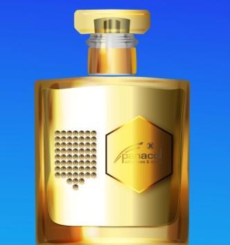 Dome coating used as decoration on perfume bottle