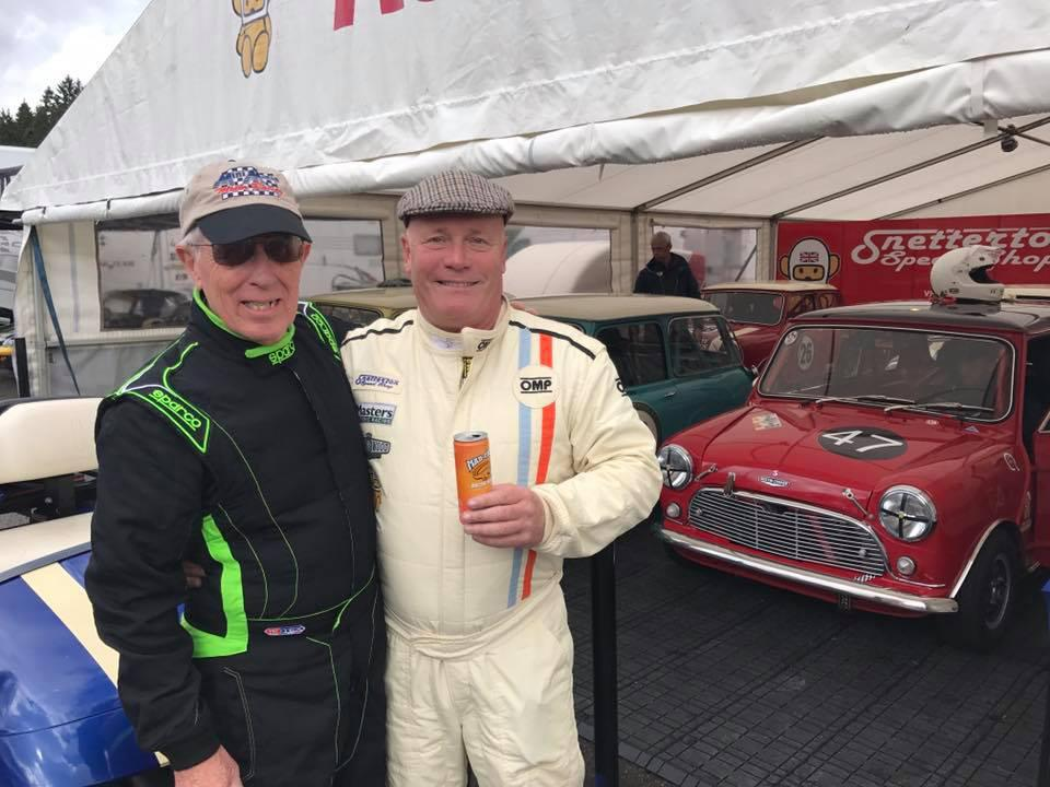 Mini Mania's Don Racine (l) celebrates at Spa with Champion Jonathan Lewis (r)