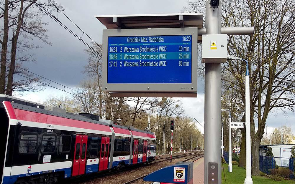 Polish rail operator WKD opts for IVU.realtime