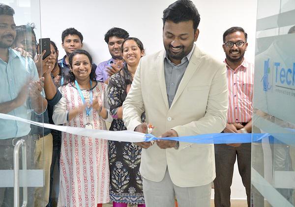 CEO Joby John inaugurating the Techversant Cochin Office