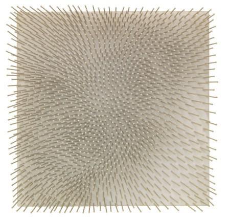 Günther Uecker, Weißes Feld, Object, 1965, 23.8 x 23.8 x 3.5 inches. Estimate: EUR 200,000-300,000