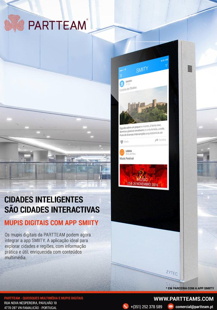 Explore SMIITY with digital kiosks? It's a partnership