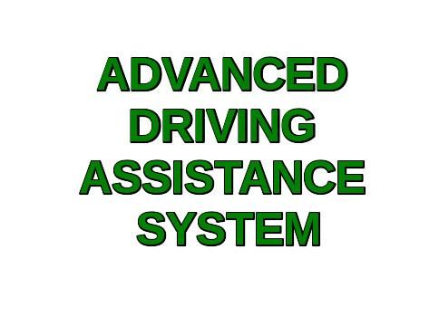 Advanced Driving Assistance System