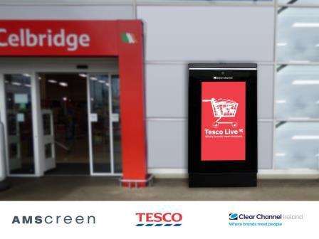 Amscreen provides Clear Channel Ireland digital screens for their recent Tesco contract win