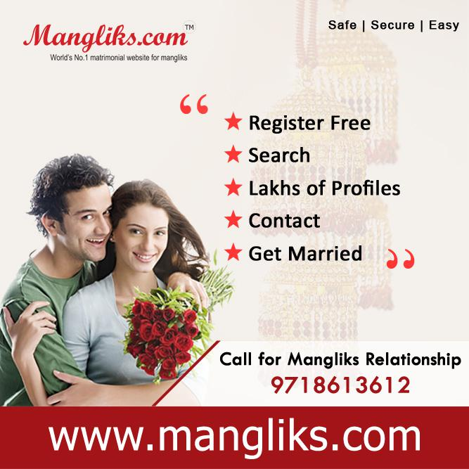 Mangliks Matrimony - Browse through lacks of profiles for manglik brides and grooms with us