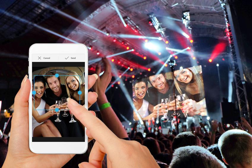 Selfiewall ? posting mobile photos straight to a projector