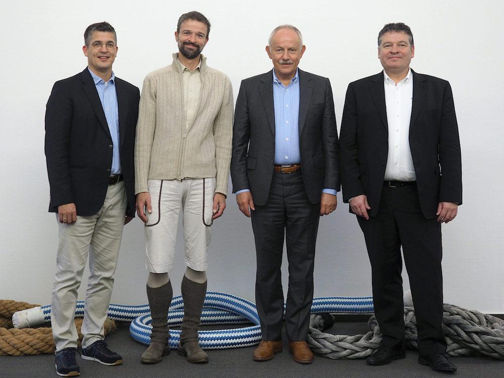 Thomas Schlätzer, Jan Paul, Gerhard Pfeifer and Klaus Walther