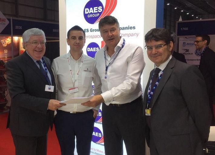 DAES and Vapormatt executives at Dubai AIr Show 2017