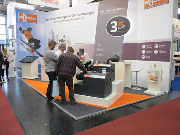 The new generation of Mink MV claw vacuum pumps generated significant interest at Busch's trade show booth