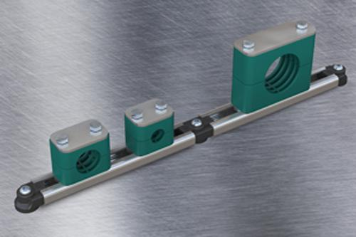 Stauff supplies all the necessary components for fixing Standard series C-profile rails by stud welding