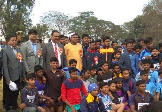 District Cross Country Race held at Hazaribagh by AK Mishra Foundation in association with Hazaribagh Athletic Association