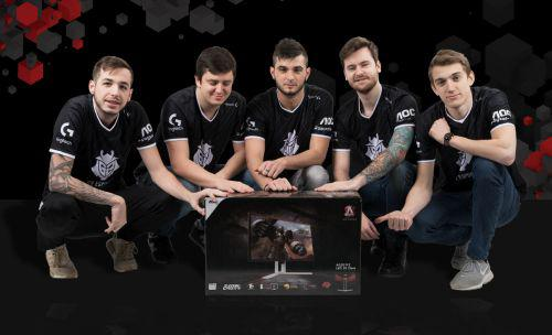 AOC gaming monitors will now support the triumphant progress of G2 Esports