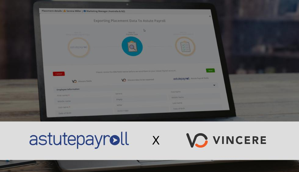 Vincere Announces Integration with Astute Payroll