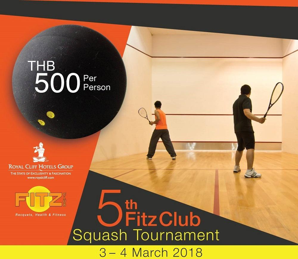 Come and Join Royal Cliff's Exciting 5th Fitz Club Squash