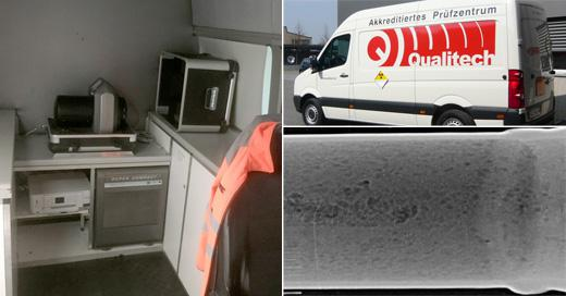 HD-CR 35 NDT Computed Radiography Scanner in mobile use at Qualitech Switzerland
