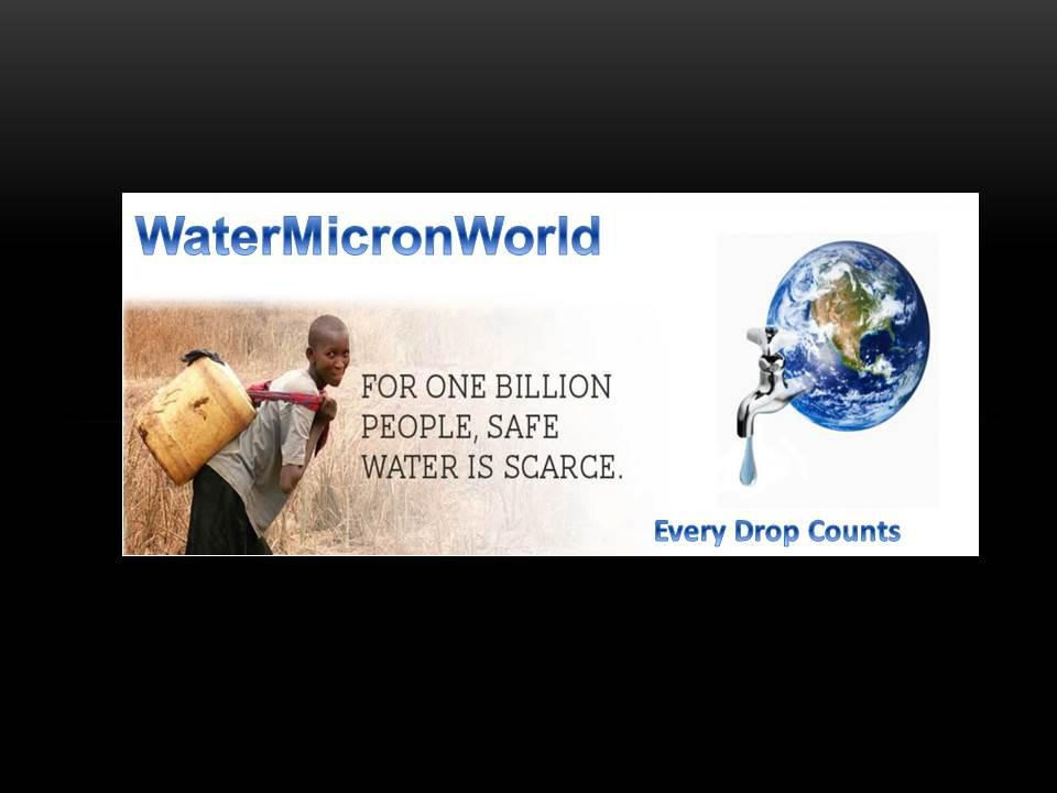 """""""Every Drop Counts"""""""