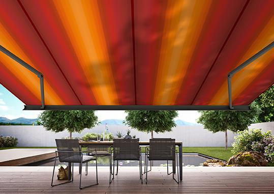 "The exclusive ""visutex"" collection shows that awning fabrics can be fashionable and trendy."