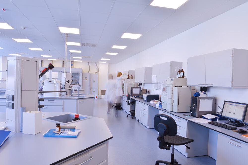 Technicians in wet lab