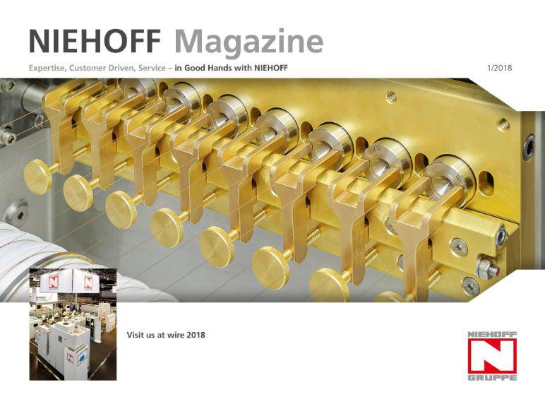 """The cover page of """"NIEHOFF Magazine"""" 1/2018"""