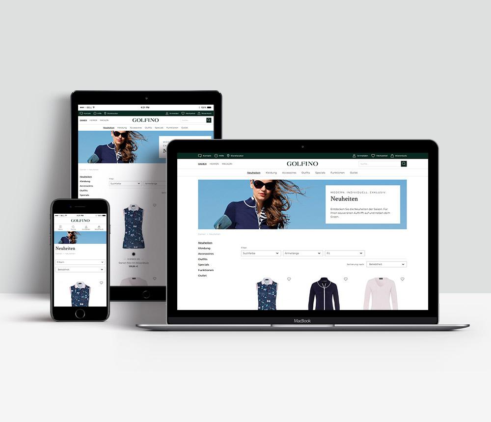 The new look of golfino.com